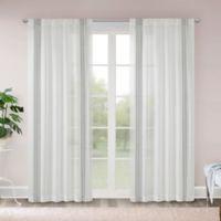 Madison Park Terra 63-Inch Rod Pocket/Back Tab Sheer Window Curtain Panel in Grey