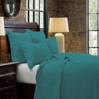 HiEnd Accents Diamond Full/Queen Quilt in Turquoise