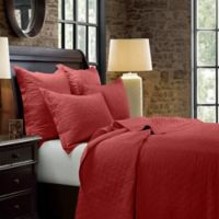 HiEnd Accents Diamond King Quilt in Red
