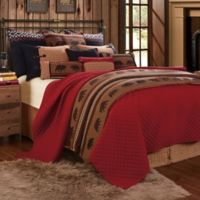 HiEnd Accents Bayfield Twin Coverlet Set in Red/Brown