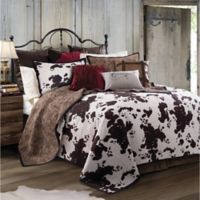 HiEnd Accents Elsa Reversible Twin Quilt Set in Chocolate