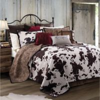 HiEnd Accents Elsa Reversible King Quilt Set in Chocolate