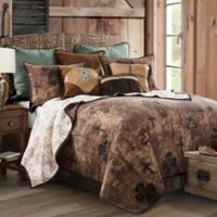 HiEnd Accents Ironwork Reversible Full/Queen Quilt Set in Brown