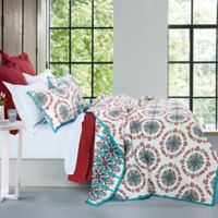 HiEnd Accents Sonara Reversible Twin Quilt Set in Teal