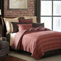 HiEnd Accents Rushmore Twin Quilt Set in Red