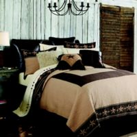 HiEnd Accents Star Ranch Reversible Twin Quilt Set in Brown
