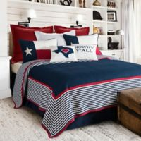 HiEnd Accents Ranger Reversible Twin Quilt Set in Navy/White