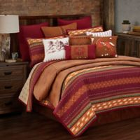 HiEnd Accents Solace Reversible King Quilt Set in Berry