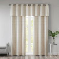 510 Designs Pike Grasscloth 63-Inch Window Curtain Panel Pair with Valance in Ivory