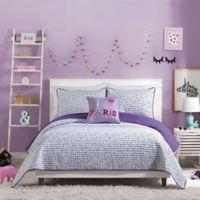 Urban Playground™ Joceline Reversible Full/Queen Quilt in Purple