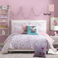 Urban Playground Desiree Reversible Full/Queen Quilt in Pink
