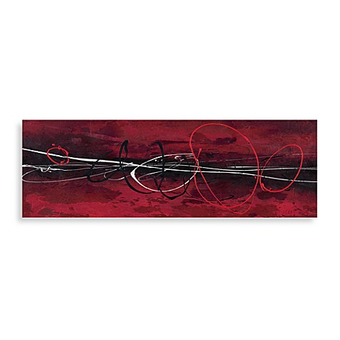 Red in Motion II Printed 20-Inch x 60-Inch x 1-Foot Canvas
