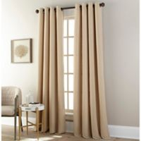 Everett 63-Inch Grommet Window Curtain Panel in Sand