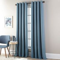 Everett 63-Inch Grommet Window Curtain Panel in Blue