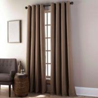 Everett 84-Inch Grommet Window Curtain Panel in Camel