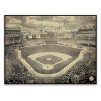MLB New York Yankees Vintage Stadium Printed Canvas Wall Art with Frame