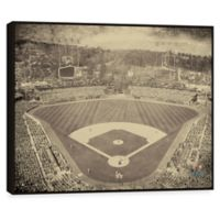 MLB Los Angeles Dodgers Vintage Stadium Printed Canvas Wall Art with Frame