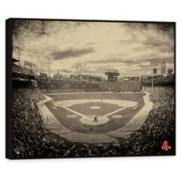 MLB Boston Red Sox Vintage Stadium Printed Canvas Wall Art with Frame