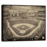 MLB New York Yankees Alternate Vintage Stadium Printed Canvas Wall Art with Frame