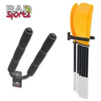 RAD Sportz 6 Paddle Kayak Hanger Rack in Black