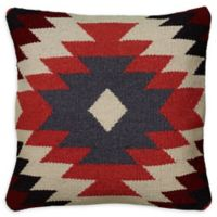 Rizzy Home Ikat Stripes Square Indoor/Outdoor Throw Pillow in Orange/Black