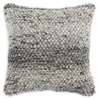 Rizzy Home Donny Osmond Square Throw Pillow in Natural/Grey
