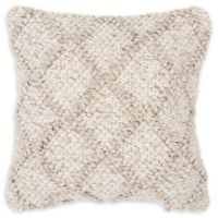 Rizzy Home Diamond Donny Osmond Square Throw Pillow in Natural/Beige