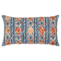 Rizzy Home Contract Oblong Throw Pillow in Indigo
