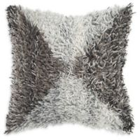 Rizzy Home Shag Geo Square Throw Pillow in Natural