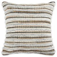Rizzy Home Donny Osmond Square Throw Pillow in Beige