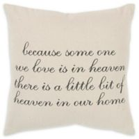 Rizzy Home Because Square Throw Pillow in Natural