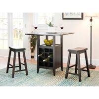 Safavieh American Home Emeric 3-Piece Pub Drop-Leaf Table Set