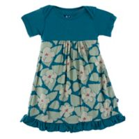 KicKee Pants® Newborn Oasis Hibiscus Dress in Blue