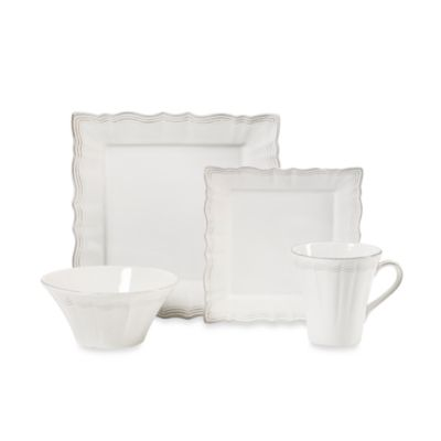 Mikasa® Alviano Square 4-Piece Place Setting  sc 1 st  Bed Bath u0026 Beyond & Buy Square Dinnerware Sets from Bed Bath u0026 Beyond