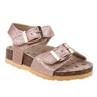 Laura Ashley Size 0-3M Cork Sandal in Rose Gold