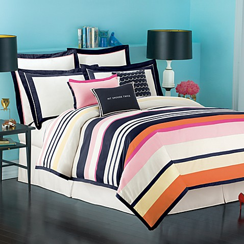 Kate Spade New York Candy Stripe Duvet Cover