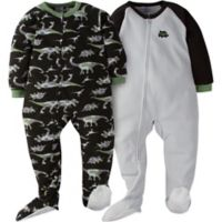 Gerber® Size 18M 2-Pack Dino Camo Footed Pajamas in Grey