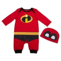 Disney® Size 6-9M 2-Piece The Incredibles Coverall and Hat Set in Red