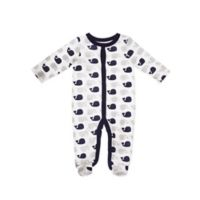Sterling Baby Size 3M Whales Footie in White