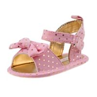 Laura Ashley Size 0-3M Stars Sandal in Pink/Gold