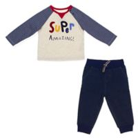 ED Ellen DeGeneres Size 12M 2-Piece Super Amazing Shirt and Pant Set in Grey