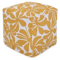Majestic Home Goods™ Polyester Plantation Ottoman in Yellow