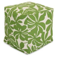 Majestic Home Goods™ Polyester Plantation Ottoman in Sage