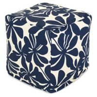 Majestic Home Goods™ Polyester Plantation Ottoman in Navy