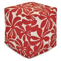 Majestic Home Goods™ Polyester Plantation Ottoman in Red