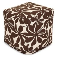 Majestic Home Goods™ Polyester Plantation Ottoman in Chocolate