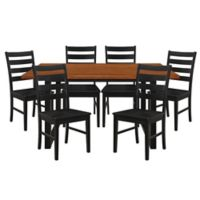 Forest Gate Huntsville 7-Piece Dining Set in Antique Black