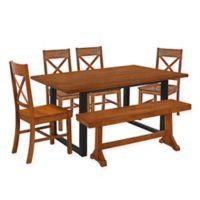 Forest Gate Huntsville 6-Piece Dining Set in Antique Brown
