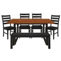 Forest Gate Huntsville 6-Piece Dining Set in Black