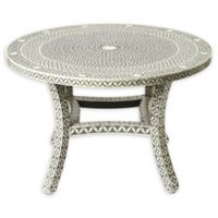 Butler Specialty Company Amelia Bone Inlay Dining Table in Grey Bone